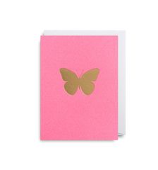 Gold and Pink Butterfly Card