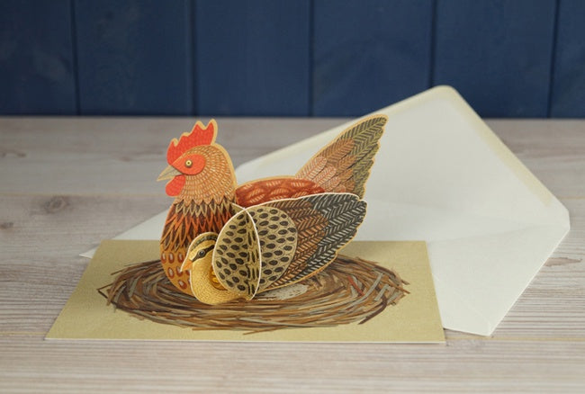 Pop-Out Pets Chicken Card