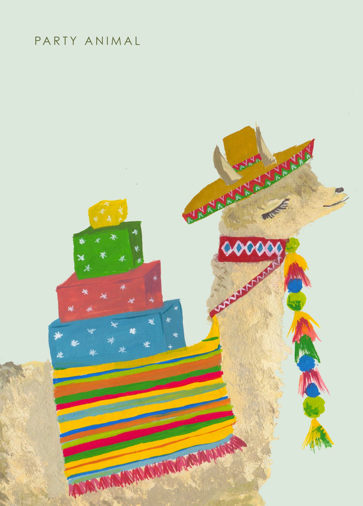 Party Animal Llama Card