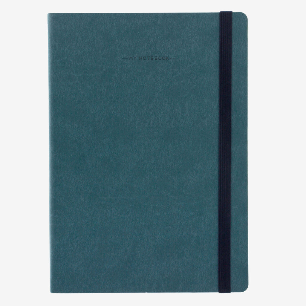 Large Plain Petrol Blue Notebook