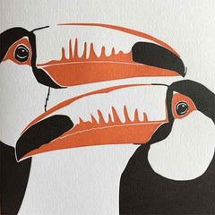 Two Toucans Letterpress Card