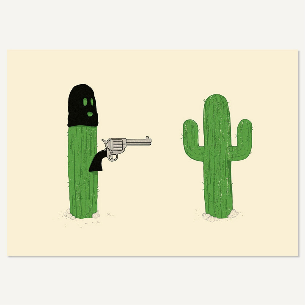 Cactus Hold-Up Postcard