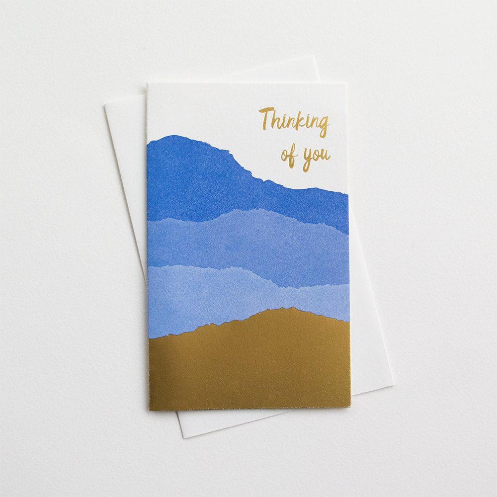 Thinking Of You Letterpress and Foil Card