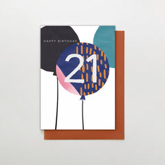 21 Happy Birthday Balloons Card