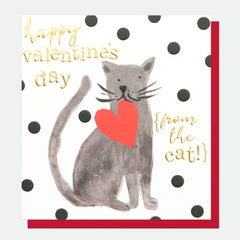 Happy Valentine's Day From The Cat Card
