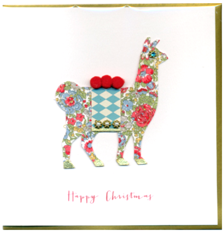 Collage Llama Christmas Card