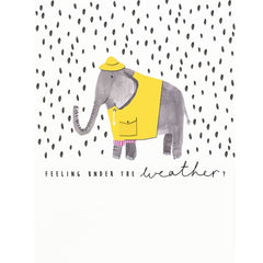 Under the Weather Elephant Card