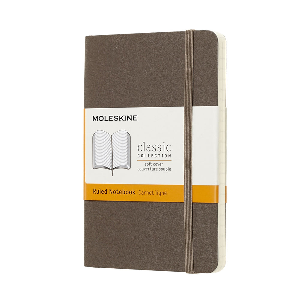 Moleskine Earth Brown Pocket Ruled Notebook Soft Cover