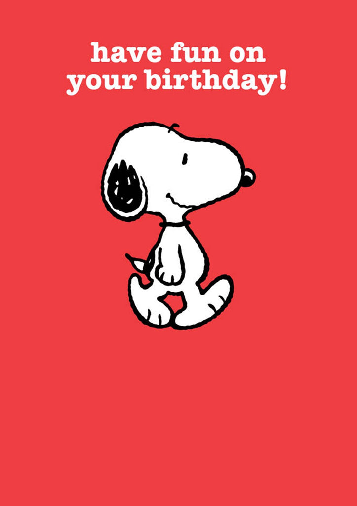 Have Fun On Your Birthday Snoopy Card