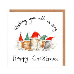 Christmas Guinea Pigs Christmas Card by Catherine Rayner