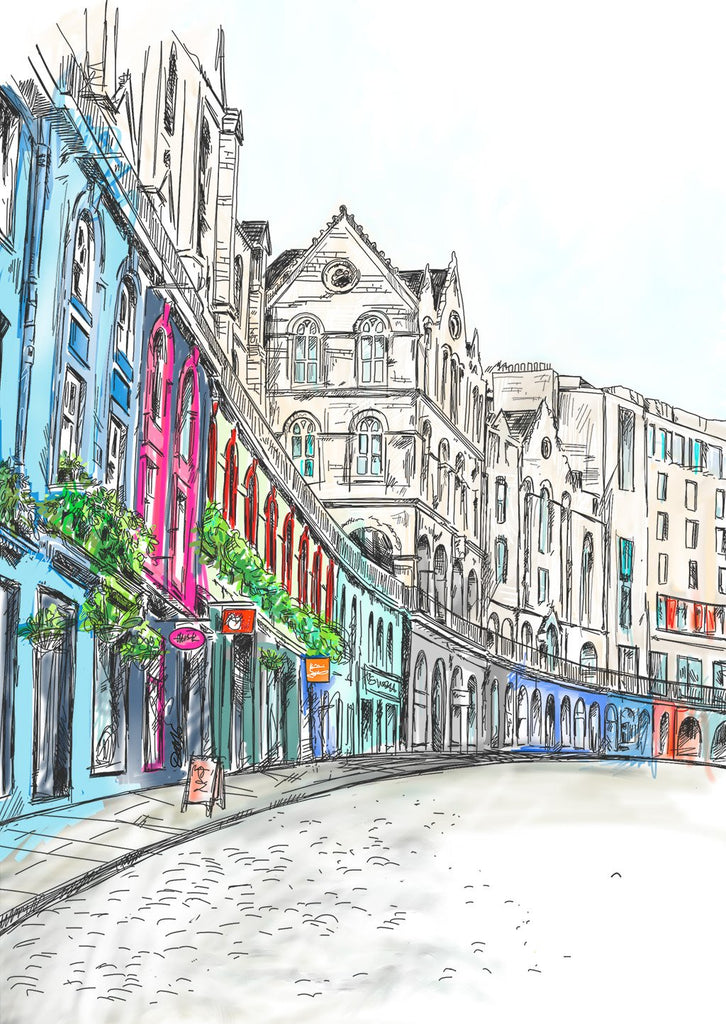 Victoria Street Edinburgh Card