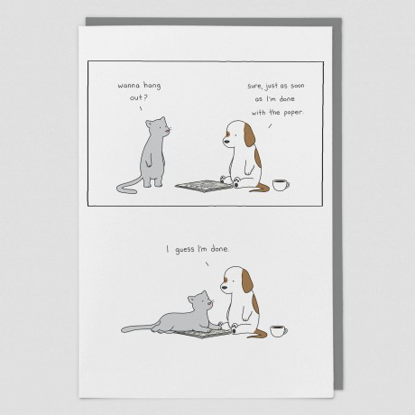 Newspaper Liz Climo Card