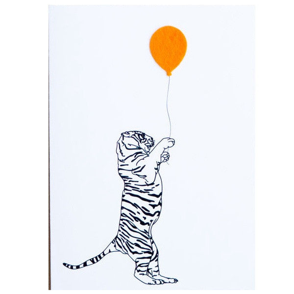 Party Tiger Birthday Card