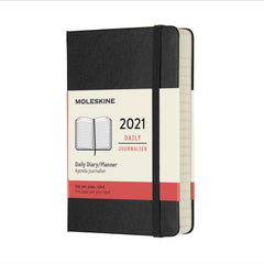 Moleskine 2021 Pocket Daily Planner Hardcover Black
