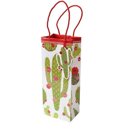 Merry Cactus Bottle Gift Bag