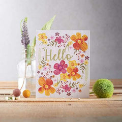Hello Floral Seed Card