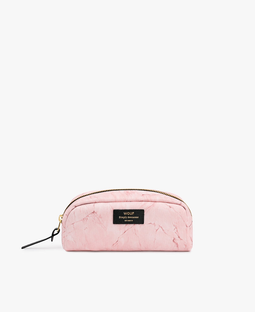 Pink Marble Small Beauty Bag