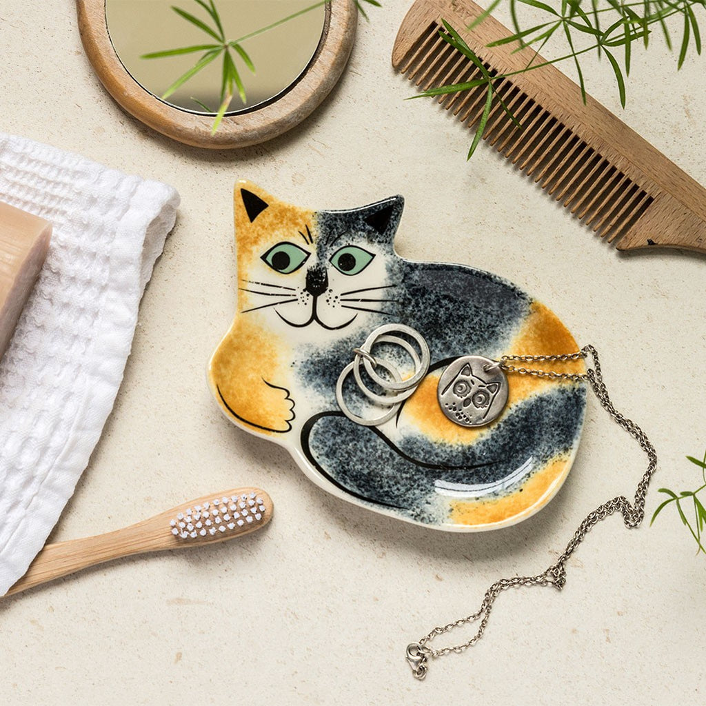 Tortoiseshell Cat Trinket Dish by Hannah Turner