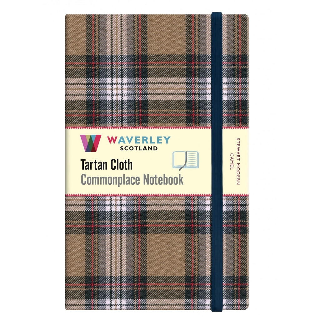 Tartan Cloth Notebook - Stewart Modern Camel (Large)