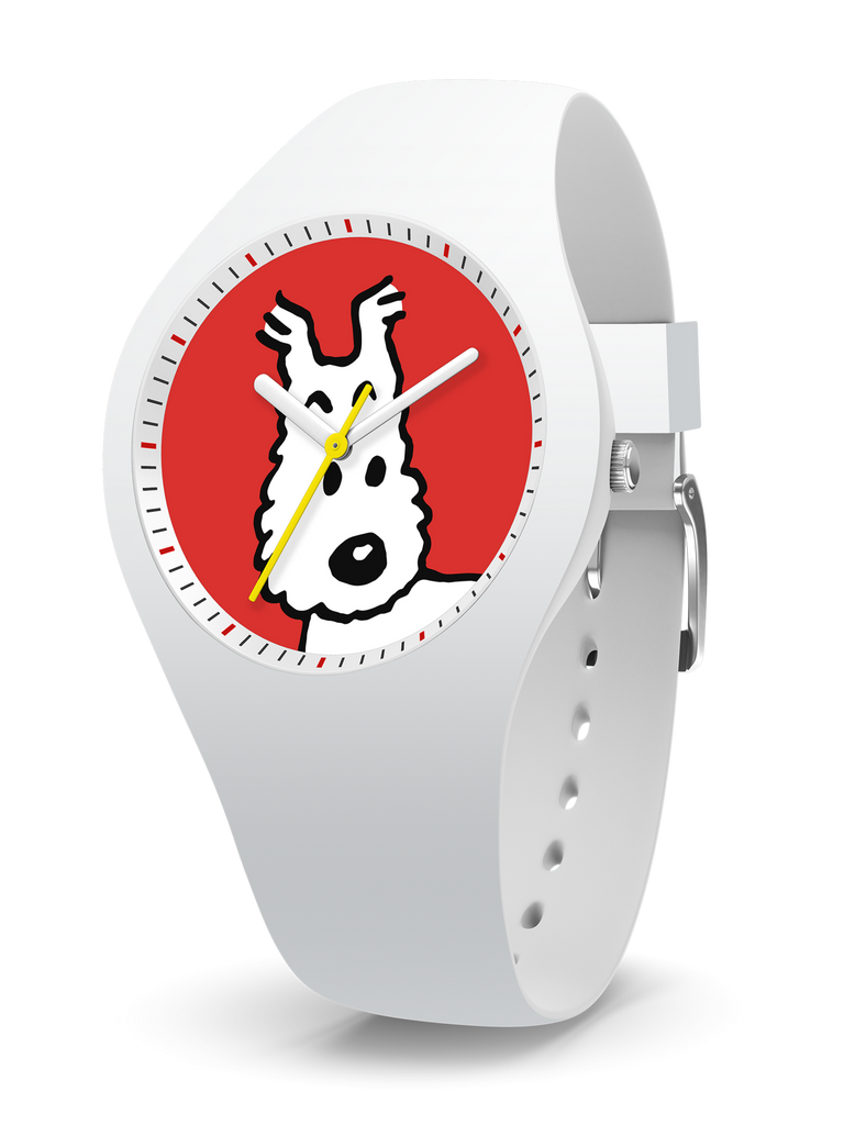 Tintin Watch - Snowy in White and Red