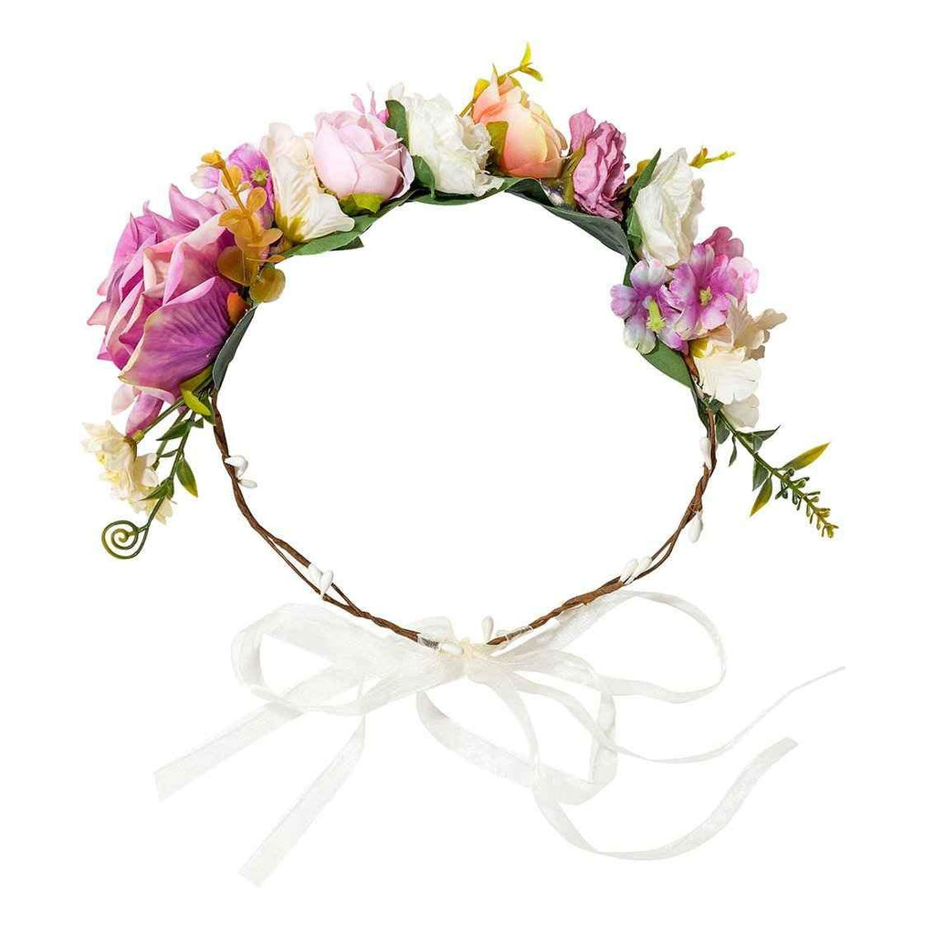 Pink, Purple And White Floral Crown