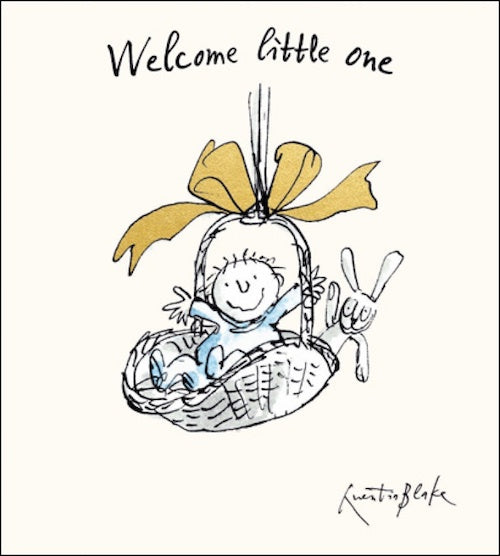 Quentin Blake Foiled New Baby Boy Card