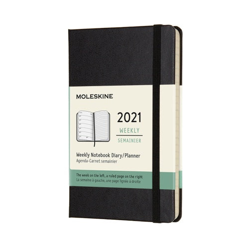 Moleskine 2021 Pocket Weekly Planner Hardcover Black