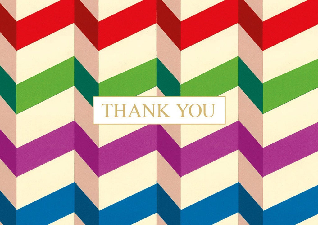 Pleats Pack of 8 Thank You Cards