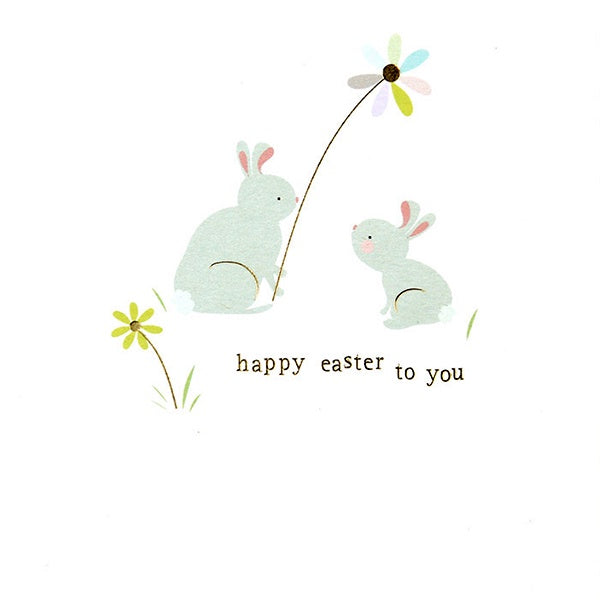 Happy Easter To You Rabbits Card