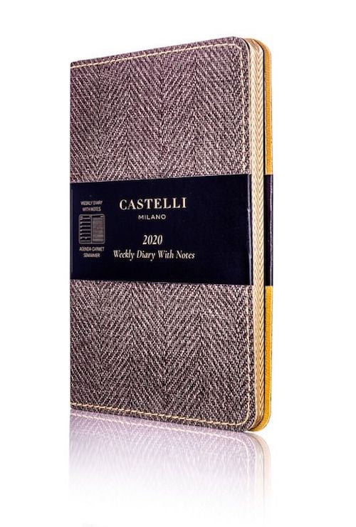 Castelli Harris Tobacco Brown Weekly Pocket 2020 Diary