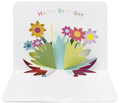 3D Flowers Happy Birthday Pop-Up Card