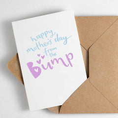 Happy Mother's Day From The Bump Letterpress Card