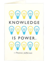 Knowledge Is Power Card