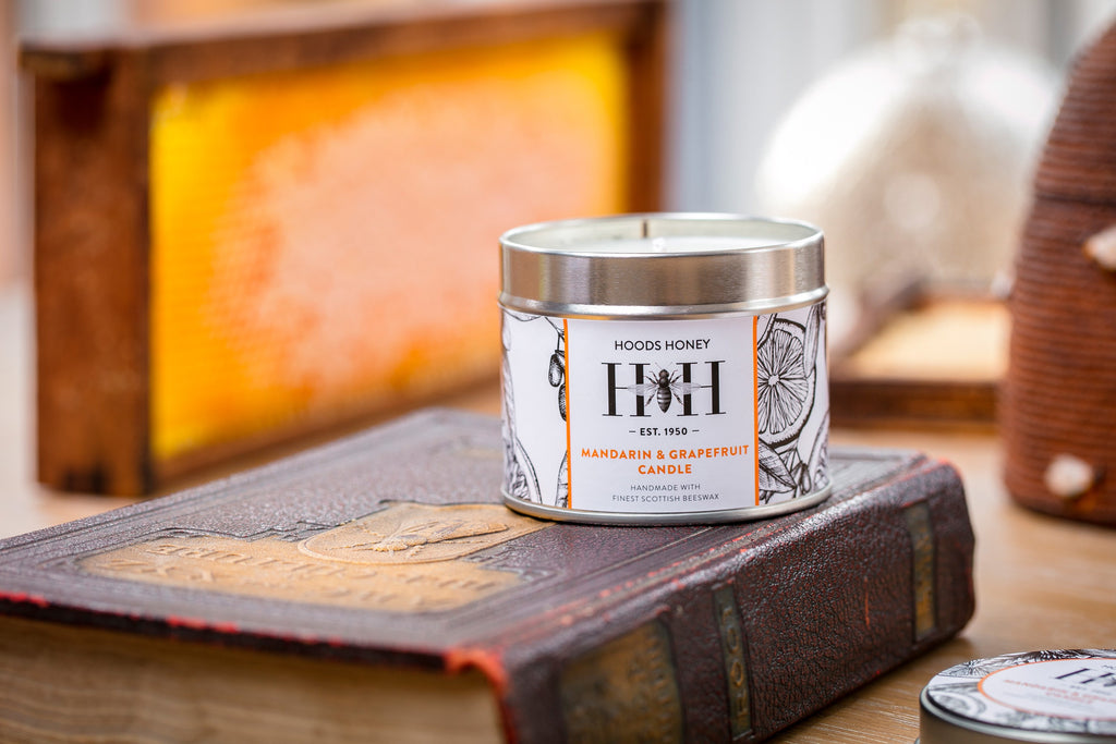 Mandarin and Grapefruit Beeswax Candle