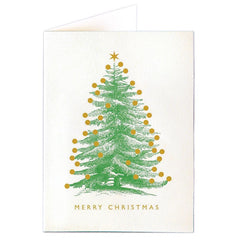 Merry Christmas Foil Tree Pack of 5 Cards