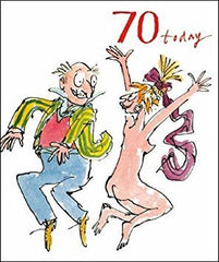 70 Today Quentin Blake Birthday Card