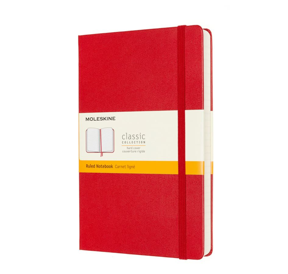 Moleskine Large Hardback Ruled Expanded Notebook Scarlet Red