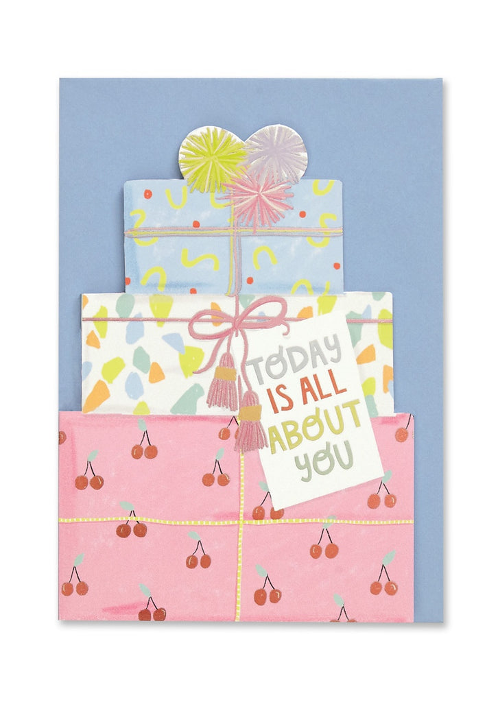Today is All About You Cut Out Presents Card
