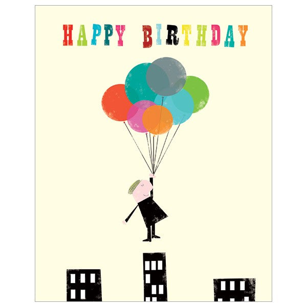 Happy Birthday Balloon Man Card