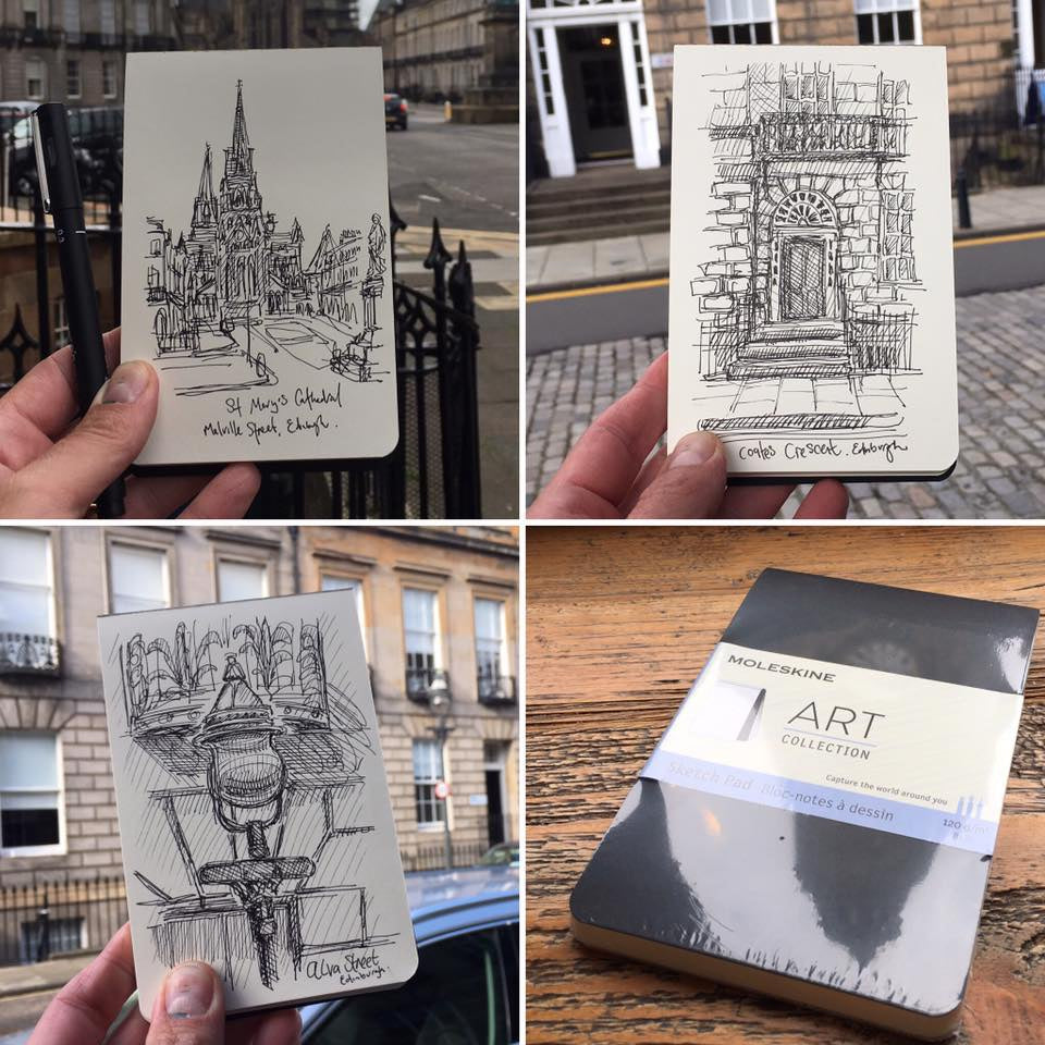 Moleskine Christmas Card Workshop with Edinburgh Sketcher 'Sketch Your Own Christmas Cards' - 17th November 2.30pm
