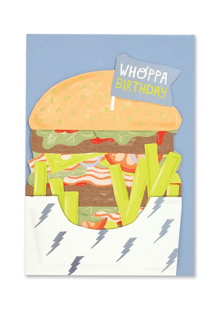 Whoppa Birthday Cut Out Card