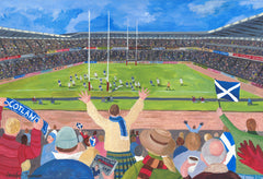 A Try at Murrayfield Card
