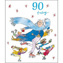 90 Today Quentin Blake Birthday Card