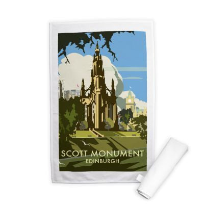 Scott Monument Edinburgh Tea Towel