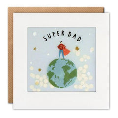 Super Dad Globe Shakies Card