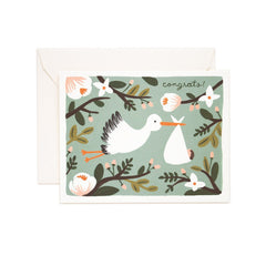 New Baby Card - Congratulations Stork