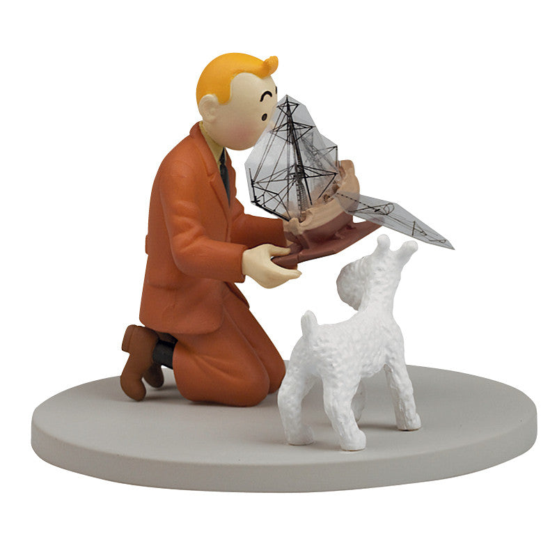 Tintin Unicorn Boxed Scene