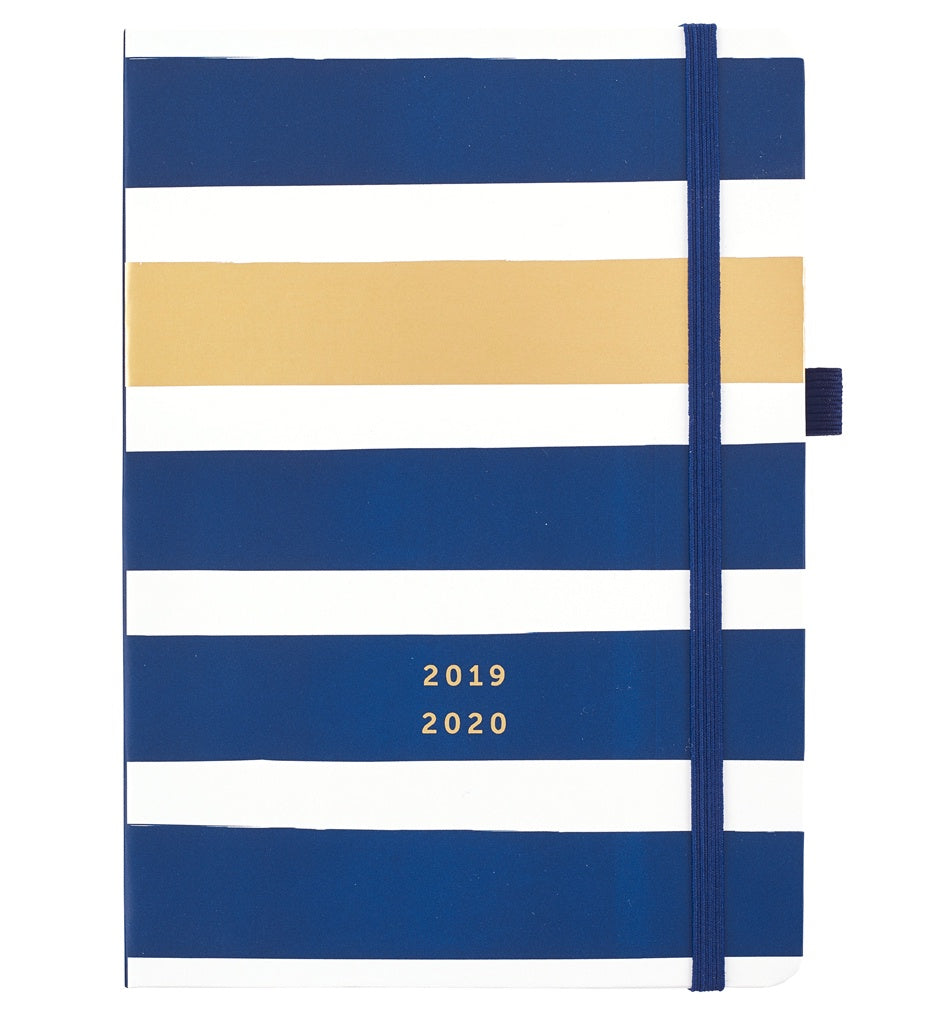 Busy B Mid Year Busy Life Diary 2019/20 Navy Striped