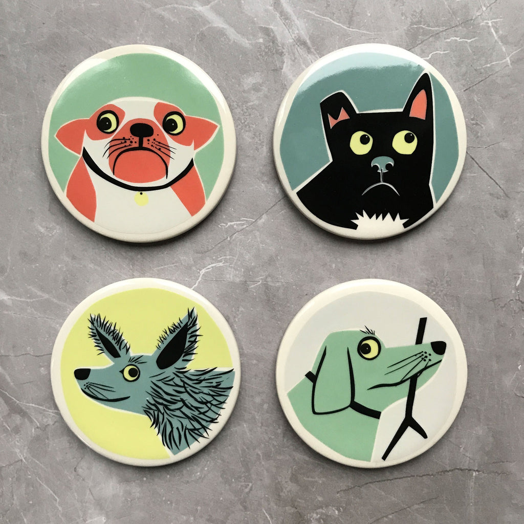 Dog Coasters Box of 4