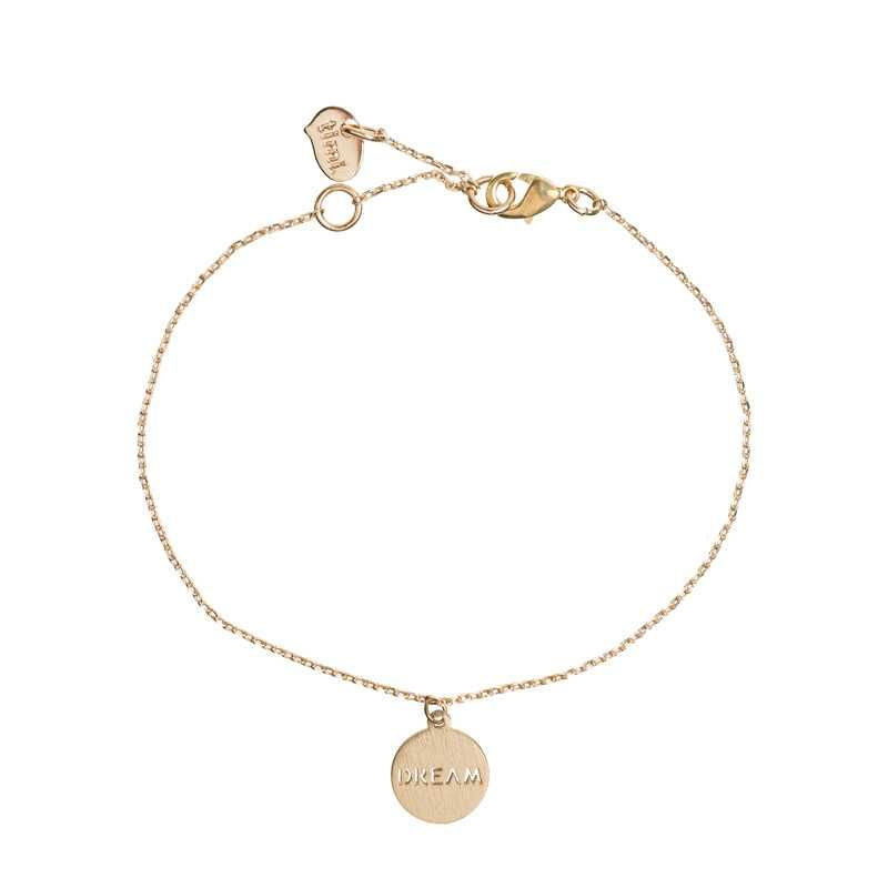 Dream Plate Bracelet Gold